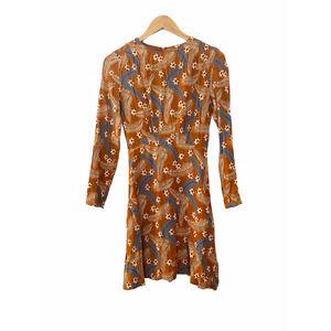 Paris Atelier & Other Stories Feather Floral Dress